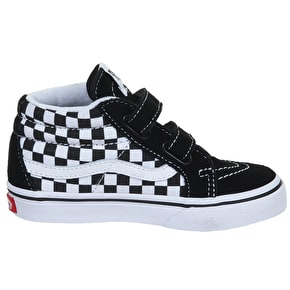 Vans Sk8-Hi Toddler Shoes - (Checker) Black/White