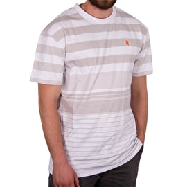 Grizzly Manta Ray Striped Knit T shirt - Grey