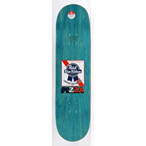 Pizza Skateboards PBR X Pizza Skateboard Deck - Blue - 8.38
