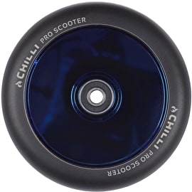 Chilli Pro Fullcore 120mm Scooter Wheels w/Bearings - Black/Blue