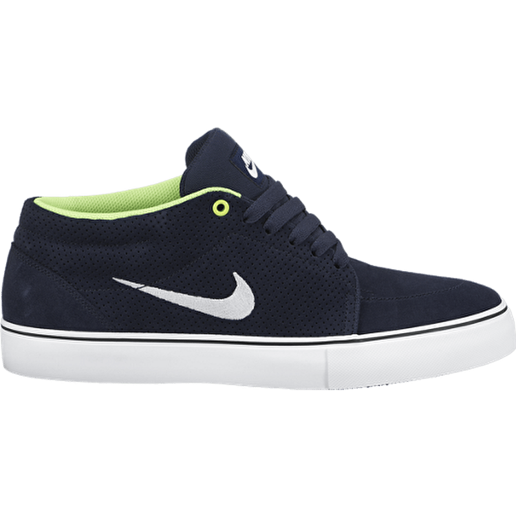 Nike SB Satire Mid Shoes - Obsidian/White/Flash Lime