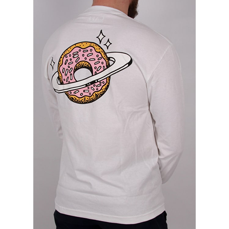 Skateboard Cafe Planet Donut Longsleeve T-Shirt - White