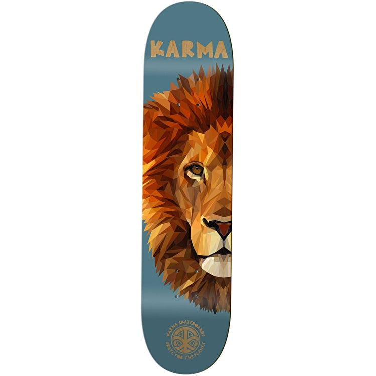 Karma Nature Skate For The Planet Skateboard Deck - Lion 8.25""