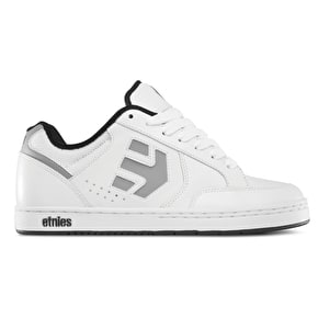 Etnies Swivel Skate Shoes - White/Grey/Black