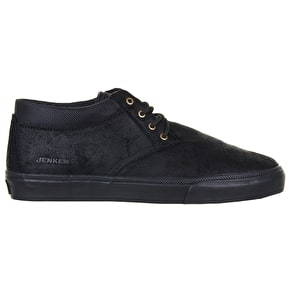 Lakai MJ Mid X Jenkem Skate Shoes - Black Suede