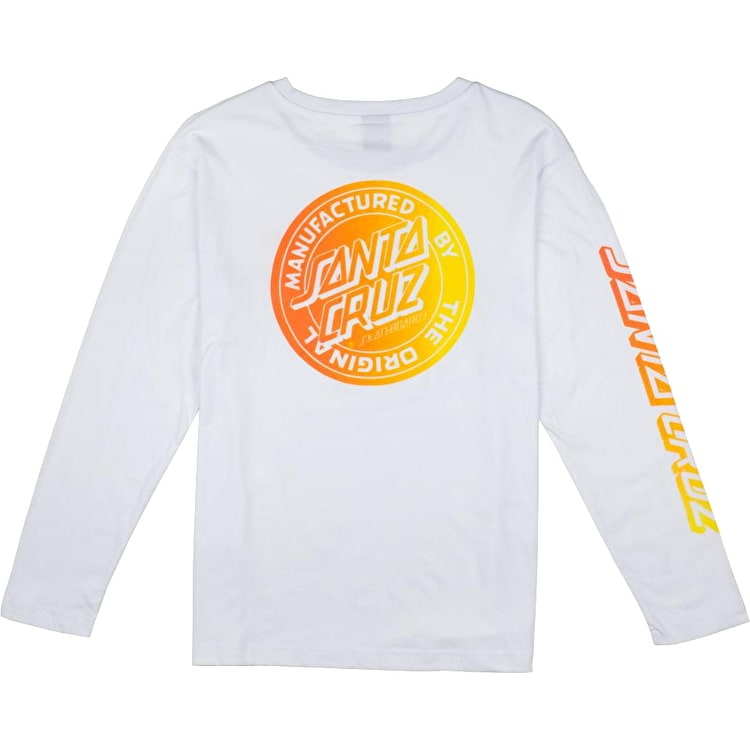 Santa Cruz MFG Fade Longsleeve Womens T-Shirt - White