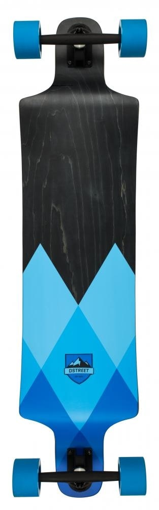 Image of D-Street Geo Drop Down Longboard - Blue 40""