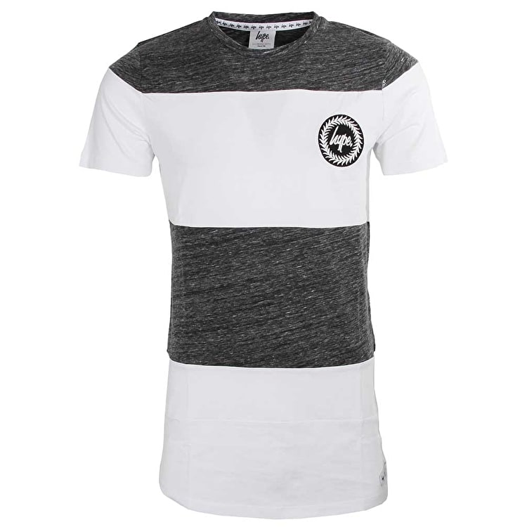Hype Holmes T Shirt - White/Charcoal