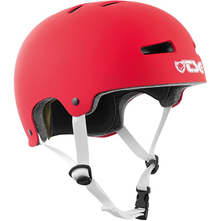 TSG Evolution Helmet - Satin Fire Red