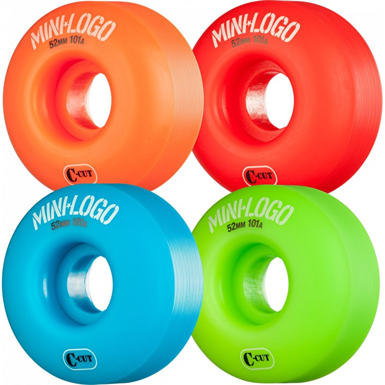 Mini Logo C-Cut 101a Skateboard Wheels - Multi