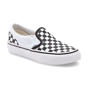 Vans Classic Slip-On Kids Shoes - (Checkerboard) Black/White