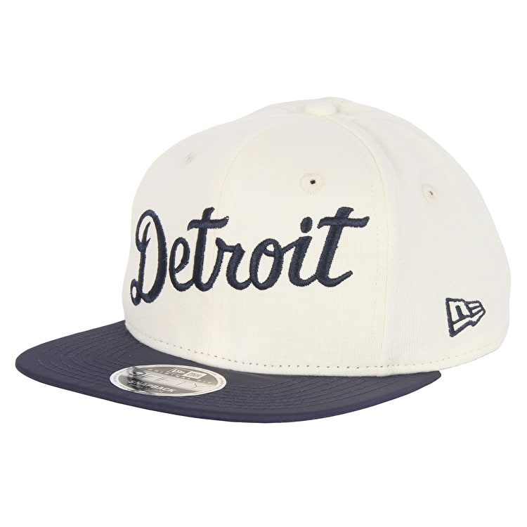 New Era Detroit Tigers MLB The Lounge Cap - Off White/Navy