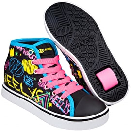 Heelys Veloz - Black/Rainbow/Scribble