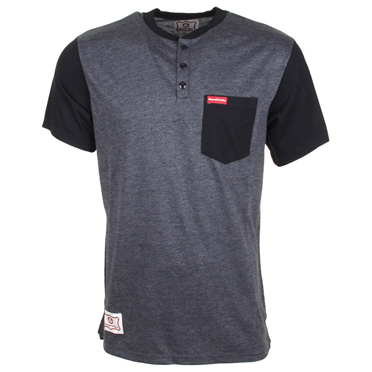Expedition One Ramblin Henley T-Shirt - Black