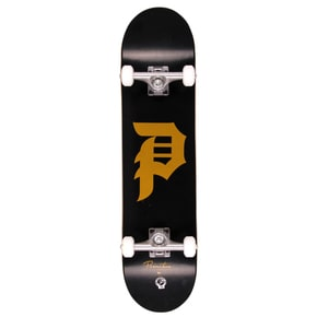 Primitive Dirty P Complete Skateboard - Black/Gold 7.625