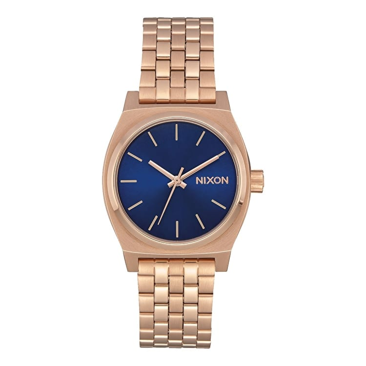 Nixon Medium Time Teller Womens Watch - Rose Gold/Indigo/Black