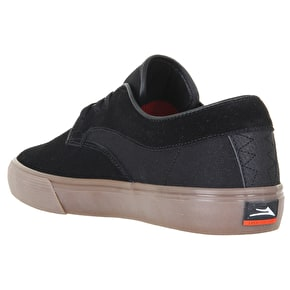 B-Stock Lakai Riley Hawk Skate Shoes - Black/Gum Suede UK 9 (Box Damage)