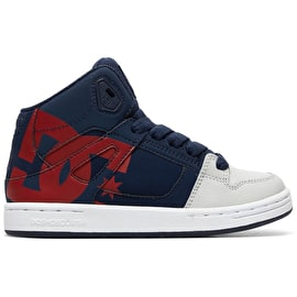 DC Pure HT SP High Top Skate Shoes - Navy/Grey