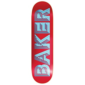 Baker Ace Skateboard Deck - Red 8.25