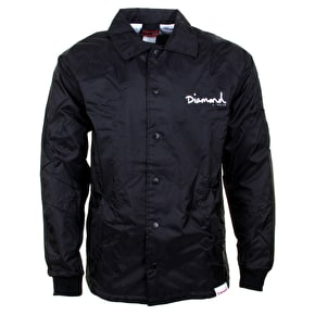 Diamond OG Script Coaches Jacket - Black