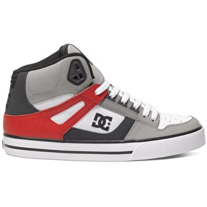 DC Spartan High WC Shoes - Grey/Red/White