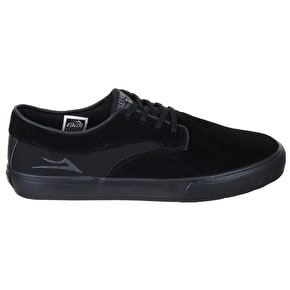 Lakai Riley Hawk Shoes - Black/Black Suede