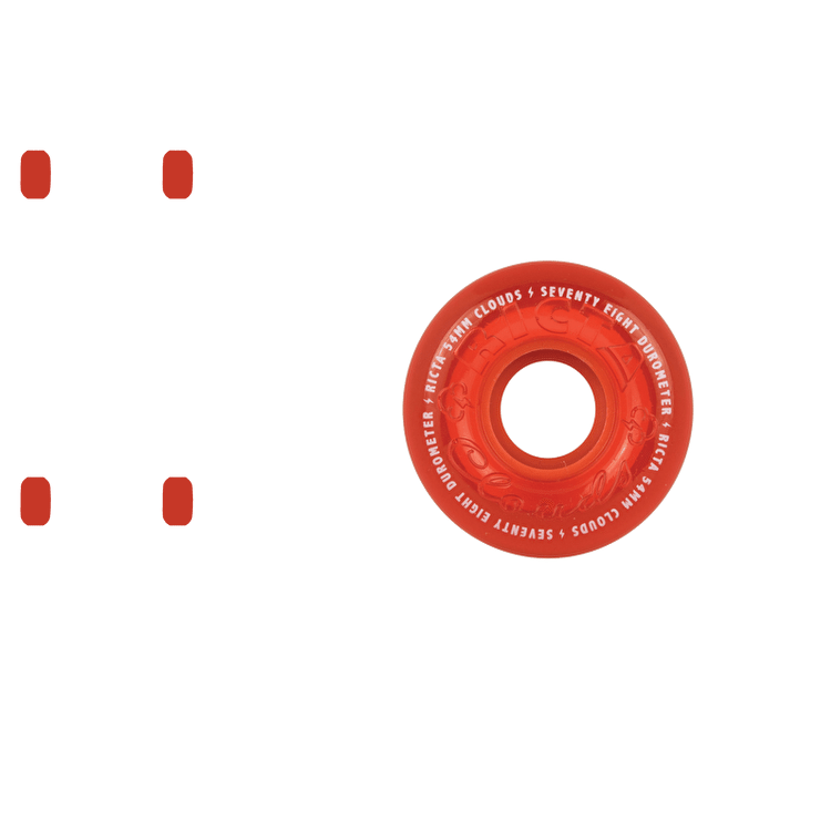 Ricta Crystal Clouds 78a Skateboard Wheels - Red 54mm