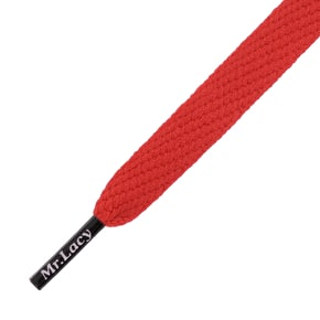 Mr Lacy Shoelaces - Flatties Red/Black Tip