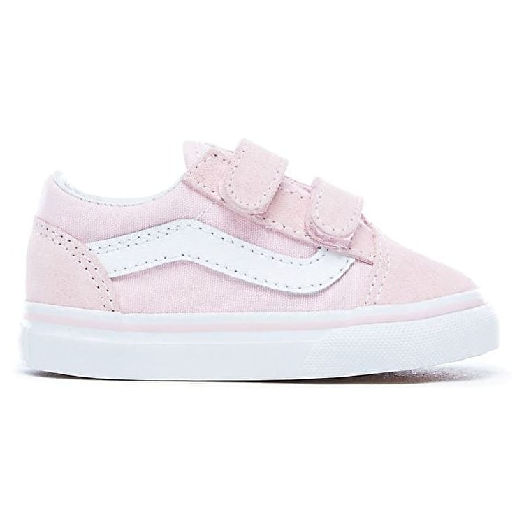 Vans Vans Vans Old Skool V Toddler Zapatos - (Suede/Canvas) Chalk Rosa/True Blanco c3918e