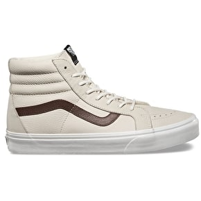 Vans SK8-Hi Reissue Skate Shoes - (Leather) Blanc/Potting Soil