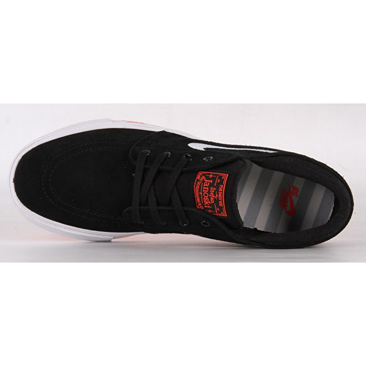 Nike Stefan Janoski JDI (GS) Kids Skate Shoes - Black/White/Bright Crimson