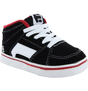 Etnies RVM Toddler Skate Shoes - Black/White/Red