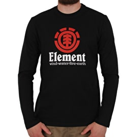 Element Vertical Long Sleeve T shirt - Flint Black