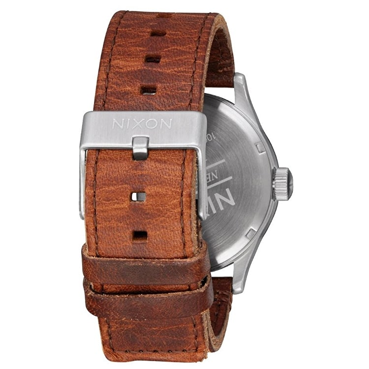 Nixon Sentry Leather Watch - Surplus/Brown