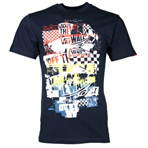 Vans OTW Checker Blaster T-Shirt - Navy/Golden Glow