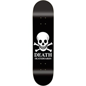 Death OG Black Skull Skateboard Deck - 7.5