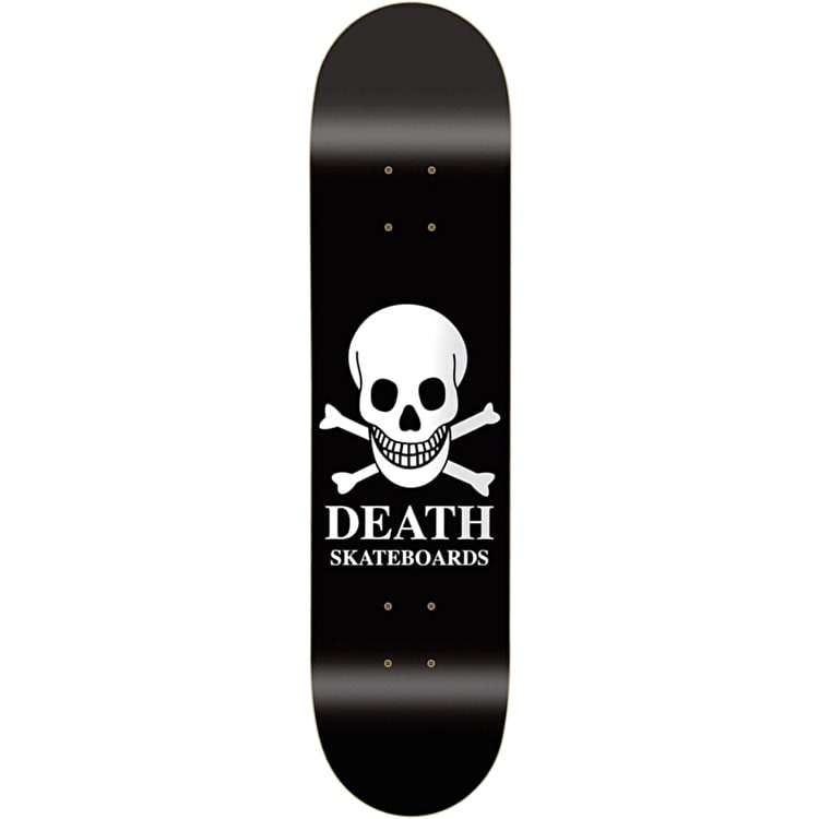 Death OG Skull Black Skateboard Deck - 8.5""