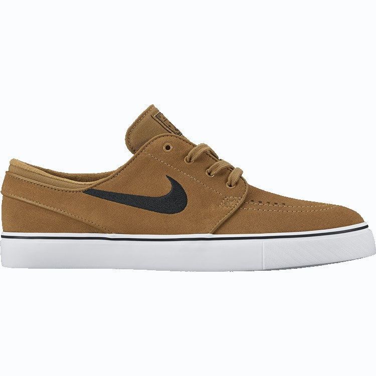 Nike SB Zoom Stefan Janoski Skate Shoes - Golden Beige/Black