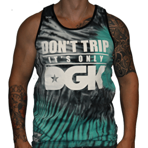 DGK Don't Trip Tie Dye Tank Top - Black / Green