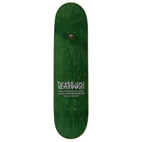 Deathwish Scratch To Win Skateboard Deck - Dickson 8.25