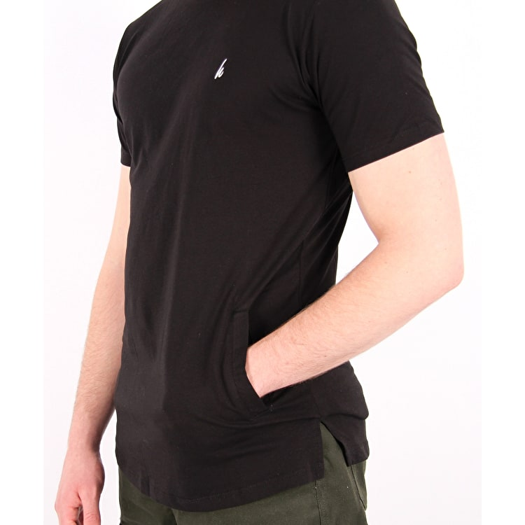 Hype Side Pocket T-Shirt - Black