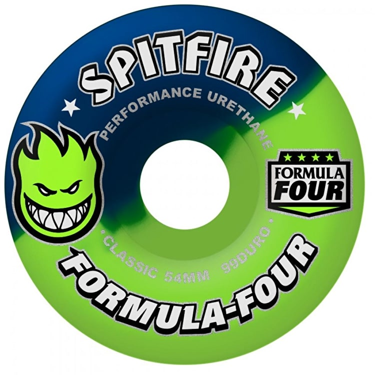 Spitfire Formula Four Neuro Wheels - Neon Lime/Navy 52mm