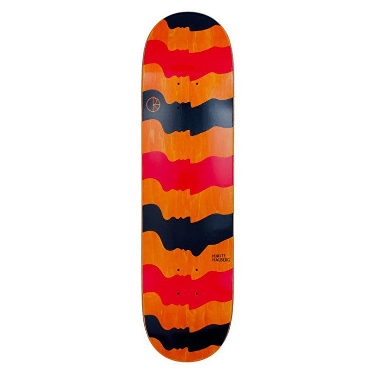 Polar Skateboard Deck - Halberg - Some Noses Are Bigger Than Others- Black/Red - 8""
