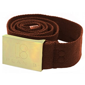 Plan B Type Face Belt - Brown