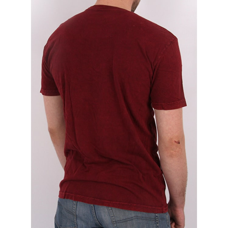 Neff Lambert Washed T shirt - Maroon