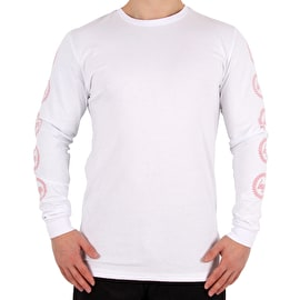Hype Crest Longsleeve T-Shirt - White/Pink