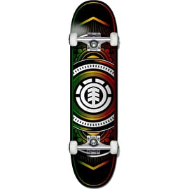 Element Hatched Rasta Complete Skateboard - 8.0