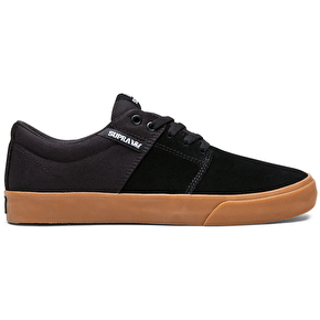 Supra Stacks Vulc II Skate Shoes - Black/Gum