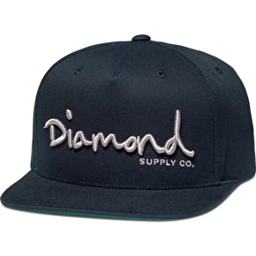 Diamond OG Snapback Cap - Navy