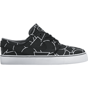 B-Stock Nike SB Stefan Janoski Cnvs Print Skate Shoes - Black/Black UK 6 (Box Damage)